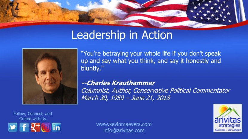 Charles Krauthammer; 1950-2018