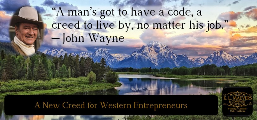 A New Creed for Western Entrepreneurs